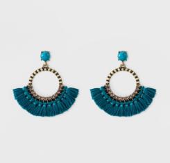 Baublebar earrings teal