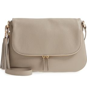Nordstrom Gray Pebble Crossbody