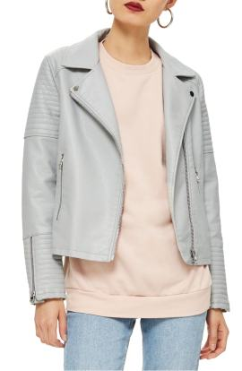 Top Shop Biker Jacket Gray
