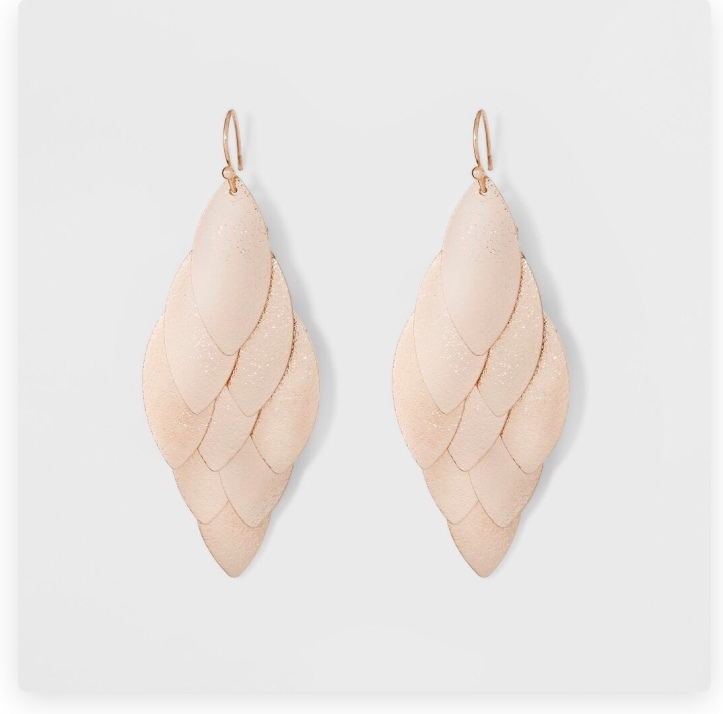 Target A New Day rose gold leaf earrings