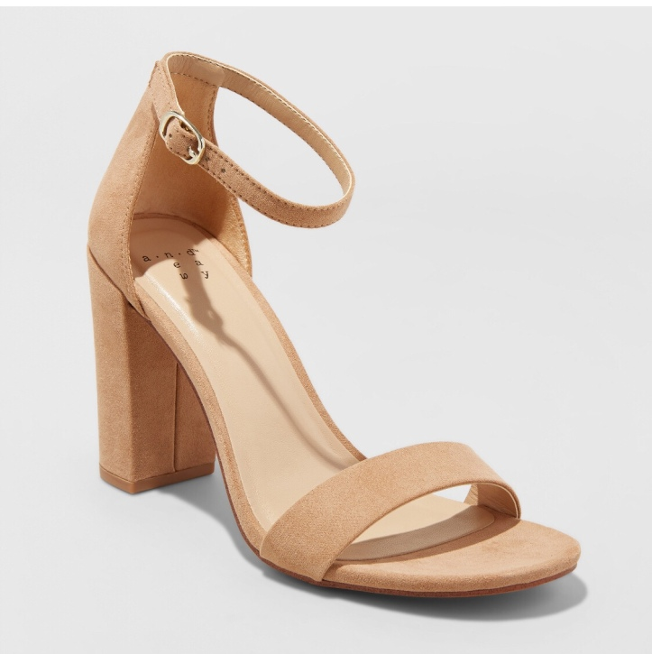 Tan block heel Target A New Day shoes